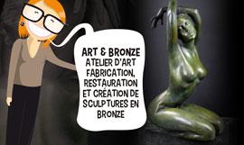 creation site internet art et bronze