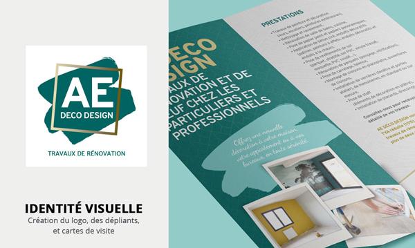 communication et identité visuelle pour AE DECO Design