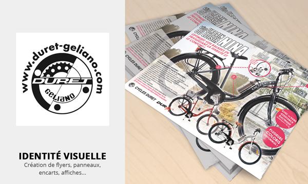 creation d'identité visuelle pour Vélos Cycles DURET GELIANO
